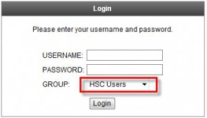 Selecting HSC from group option