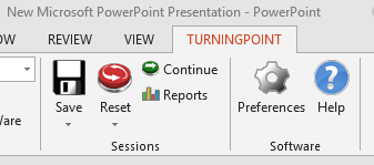 TurningPoint tab in PowerPoint