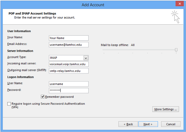 Voicemail - Outlook (step 5)