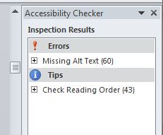 accessibility checker window