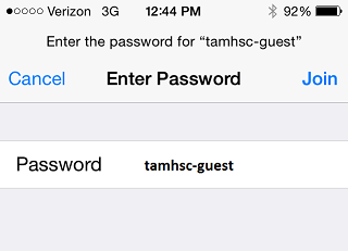 iOS guest wifi pass