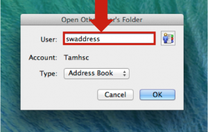 """""""swaddress"""" entered into the User field"""