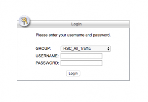Username and password box