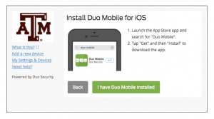 Duo Mobile phone install