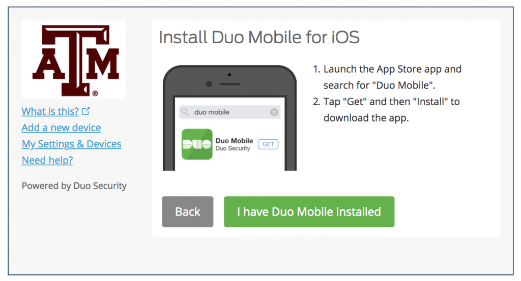 Duo Mobile install